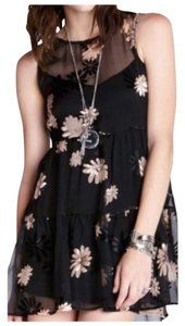 For Love & Lemons short dress Black with Gold on Tradesy