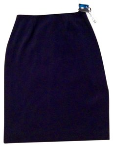Valerie Stevens Kick Slit Lined Pink Lady Skirt Black