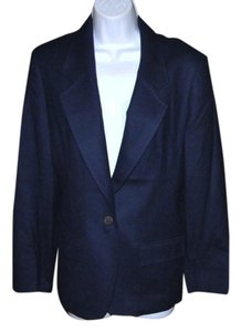 Pendleton 12 100% Virgin Wool Made In Usa Navy Blue Blazer