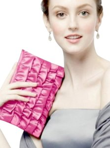 Dessy Ruffle Pink Flamingo (Pink) Clutch
