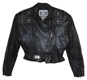 Morganwear Vintage Leather Studded Leather Jacket