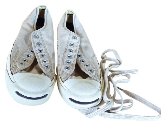 Item - Beige & White All Star Jack Purcell Sneakers Size US 7.5 Regular (M, B)