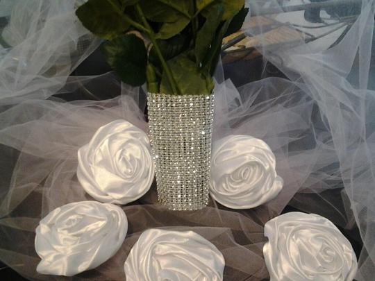 Silver Rhinestone Bouquet Wrap Wedding Wrapping Bling Holder 3 Free Pins