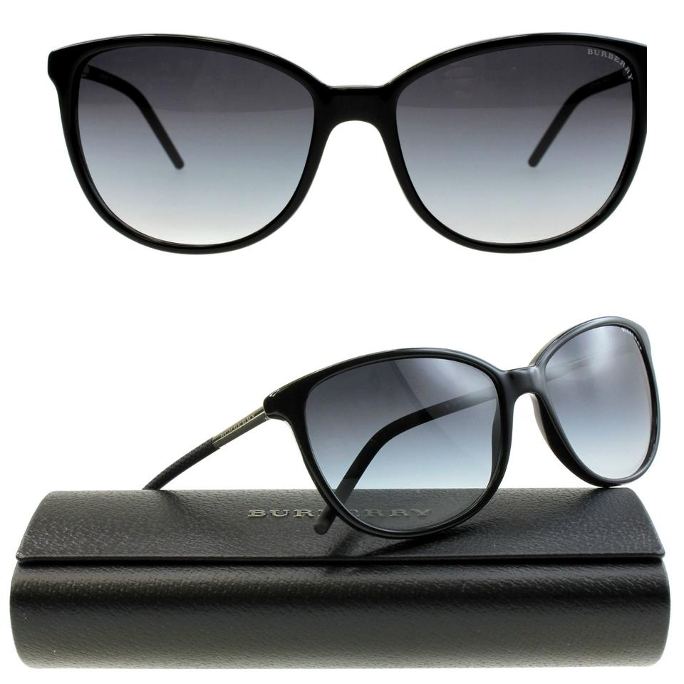 42fa2a7308 Burberry Black Frames Gray Gradient Lenses New Be4180 3001 8g 57mm Chic  Classic Sunglasses
