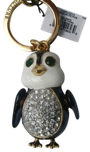 Juicy Couture Penguin Keyfob YSRU3013 Keychain Crystal and Enamel