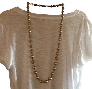 brushed gold faux pearls