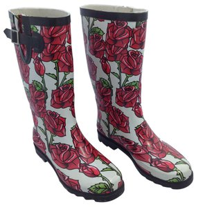 Weatherproof Stylish Rose Design Boots
