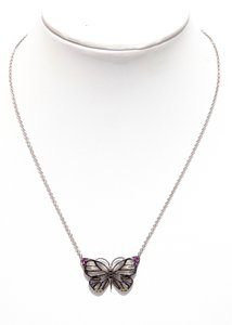 Addisson Taylor Addisson Taylor White Gold Butterfly Necklace