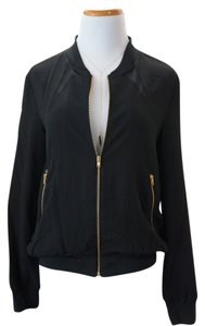 W118 by Walter Baker Mesh Paneled Jacket Top Black