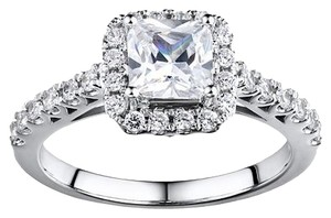 DiamonLuxe DiamonLuxe Sterling Silver 3.75-ct. T.W. Simulated Diamond Halo Ring
