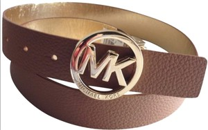 Michael Kors Michael Kors Reversible Two Tone Belt With Big MK Logo Gold Hardware S
