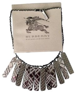Burberry Gunmetal Nova Check Multiple Pendant