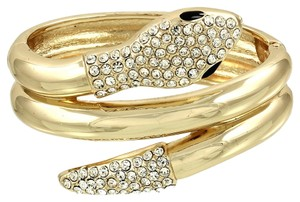 Other Snake Wrap Around Rhinestone Crystal Accent Gold Bracelet Bangle