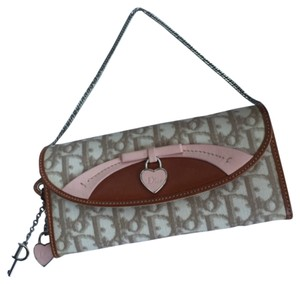 Dior Wristlet in Beige And Rose