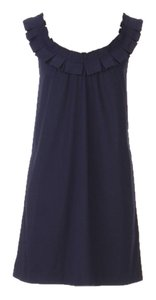 Anthropologie short dress navy Fei Carumbola Ruffle on Tradesy