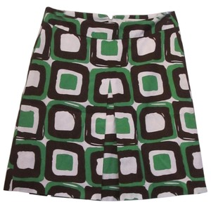 Banana Republic Skirt Green/Brown/White