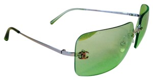 Chanel Chanel 4017 Emerald Green CC Logo Rimless Sunglasses With Case