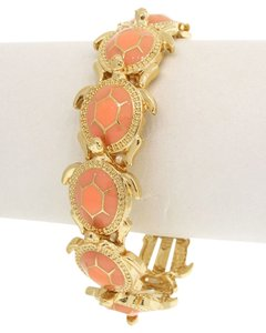Unknown Peach Color Turtle Stretch Bracelet