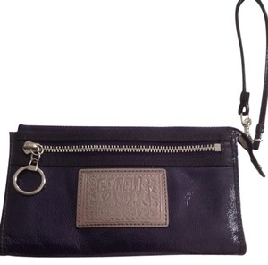 Coach Dark purple Clutch