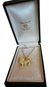 Tilden-Thurber Vtg. Tilden-Thurber 12K Gold Filled Faux Ivory Necklace