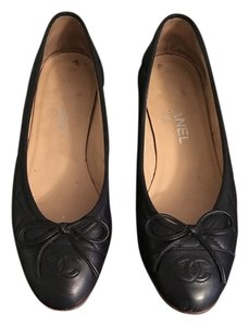 Chanel Flat Ballerina Quilted Navy Flats