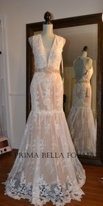 Jovani Jovani Boho Lace Wedding Dress
