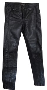 Topshop Leather Skinny Pants Black