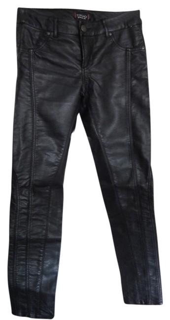 Preload https://item4.tradesy.com/images/topshop-black-faux-leather-skinny-pants-size-4-s-27-693088-0-0.jpg?width=400&height=650