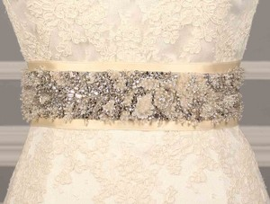 Anne Barge 572 B Cream Embellished Bridal Sash