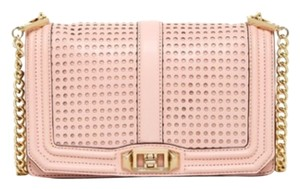 Rebecca Minkoff Love Quilted Perforated Cross Body Bag