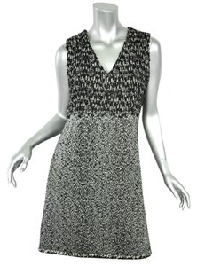 Chanel Tweed V-neck Sleeveless Shift Dress
