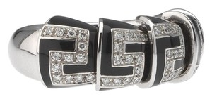 Roberto Coin Roberto Coin Ladies Ring With Black Enamel and Diamonds