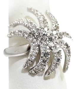 Roberto Coin Roberto Coin Ladies Diamond Palm Ring 18 k White Gold
