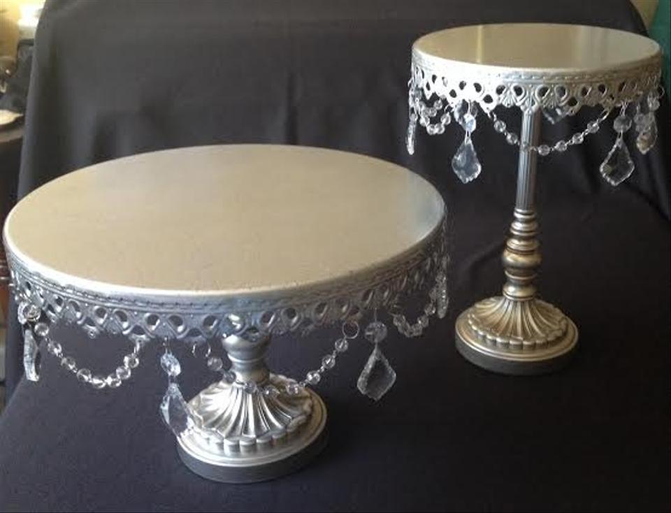Opulent Treasures Silver Cake Stand