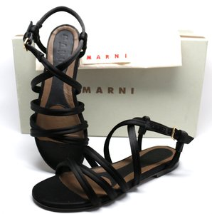 Marni Satin Sandals Black Flats