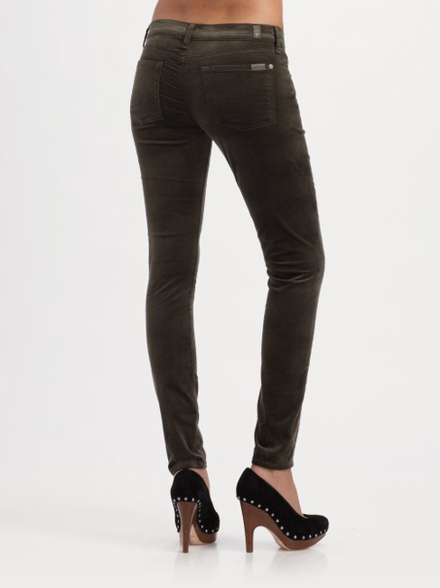 7 For All Mankind Skinny Pants Olive Green