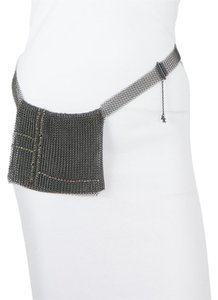 Chanel Vintage Chanel Silver Mesh Pouch Belt