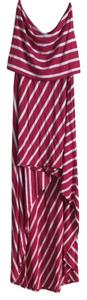 Pink And White Stripes Maxi Dress by bebe