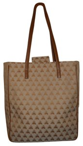 Brooks Brothers Tote in tan & beige