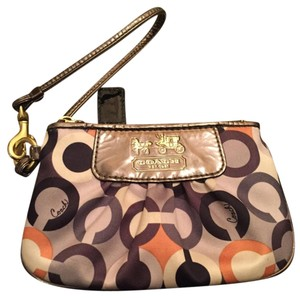 Coach Wristlet in Navy/Gray
