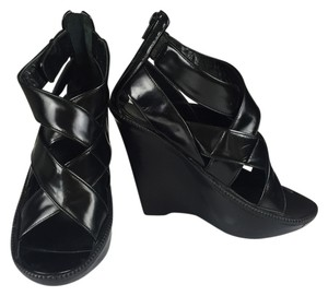 Givenchy Woven Leather Wedge Heel Wedges