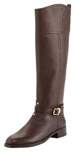 Tory Burch Knee High Leather Boot Winter Brown Boots