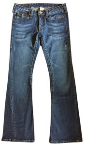 True Religion Denim Boot Cut Jeans-Distressed