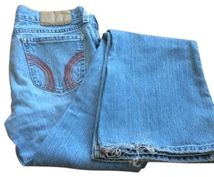 Hollister Vintage Distressed Boot Cut Jeans-Light Wash