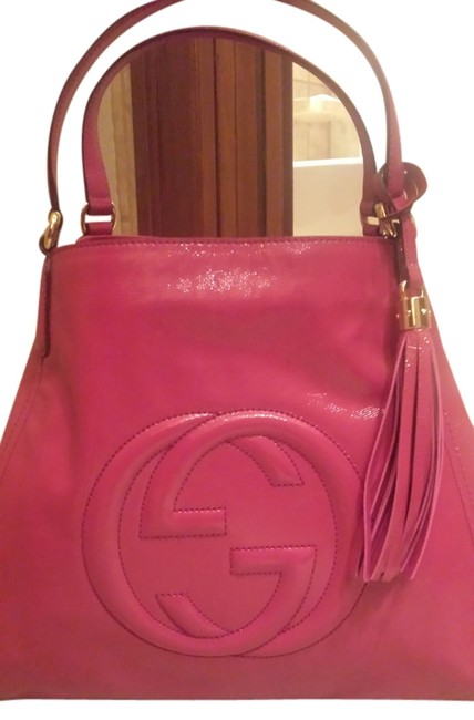 Item - Soho Tassel Collection Hot Pink Patent Leather Tote