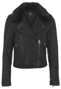 Topshop Leather Vegan Leather Motorcycle Jacket