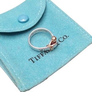 Tiffany & Co. Sterling Silver Hook Ring With Gold Accents