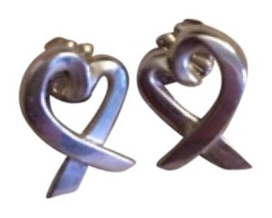 Tiffany & Co. Paloma Picasso Loving Heart earrings in sterling silver