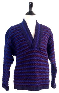 United Colors of Benetton 100% Shetland Wool V-neck Long-sleeve Sale Closeout Sweater