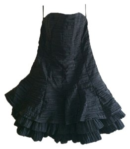 Jessica McClintock Ruffle Prom Cocktail Dress